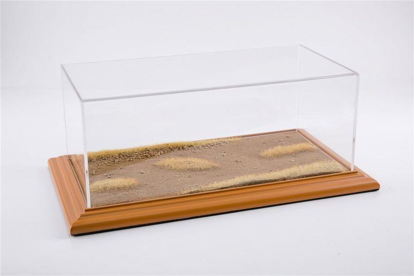 Vetrina Display Case Desert Road Diorama Cherry Wood Hand Made for /124