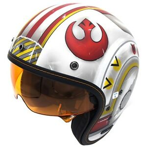 HJC-IS-5-Star-Wars-X-Wing-Fighter-Three-Quarter-Mens-DOT-Motorcycle-Helmets
