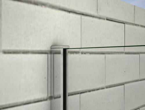 8mm doppelseitig NANO ESG Walk in mit Panel Seitenwand Duschkabine Duschwand