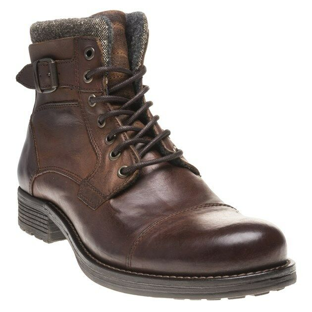 New Mens SOLE Brown Gophir Leather Boots Lace Up Zip