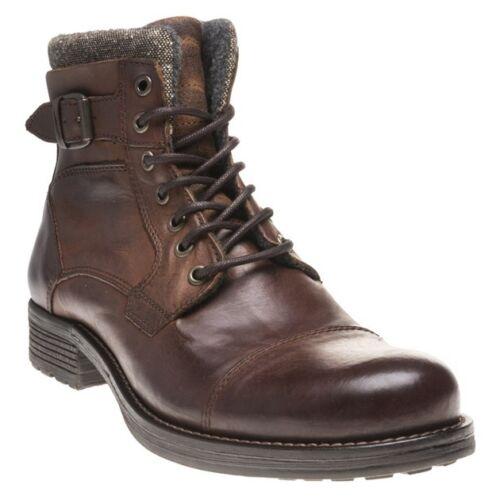 Nuevas botas para hombre Cuero Marrón Suela Con Cordones Cremallera gophir