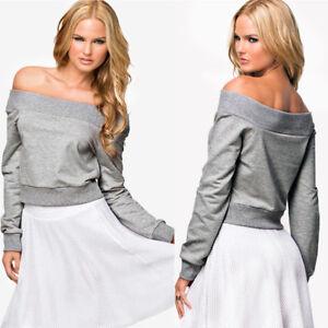Fashion-Autumn-Women-Off-Shoulder-Slim-Crop-Top-Long-Sleeve-Blouse-Sweatshirt-HK