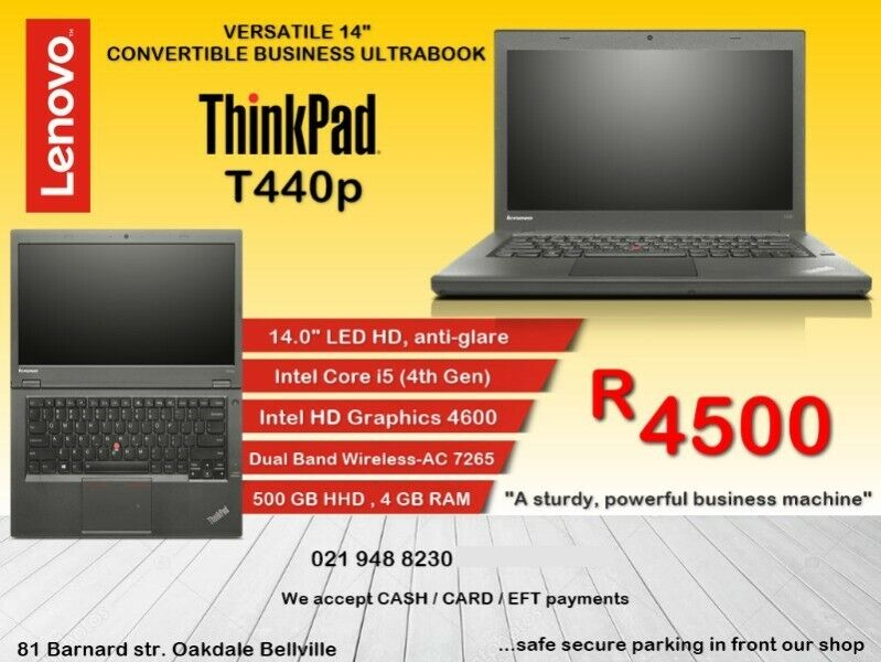 Lenovo ThinkPad T440p - Intel Core i5-3200M (2 50GHz 1600MHz 3MB) Bluetech  021 948 8230 | Bellville | Gumtree Classifieds South Africa | 240507582