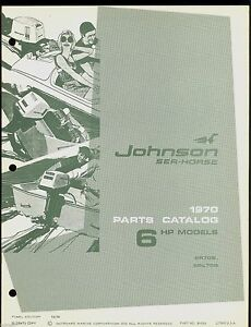 1970 Johnson 6hp Outboard Motor Parts Manual 384394 Ebay border=
