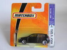 MATCHBOX (2007) #5 VW GOLF V GTI IN BLACK / SHORT CARD / MOC