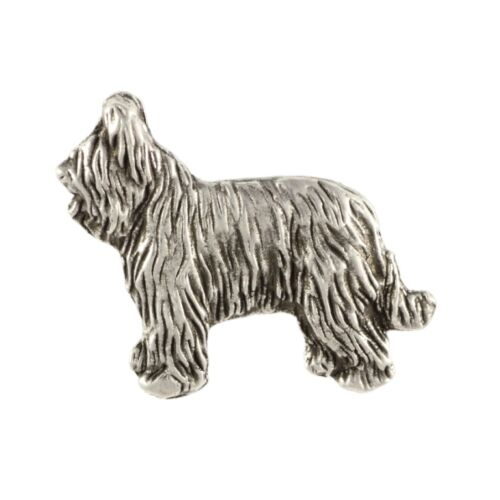 high qauality Art Dog UK Briard silver covered pin body