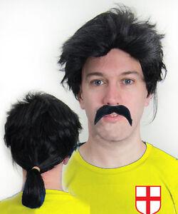 David-Seaman-Pony-Tail-Wig-amp-Moustache-Football-Fancy-Dress-England-Arsenal