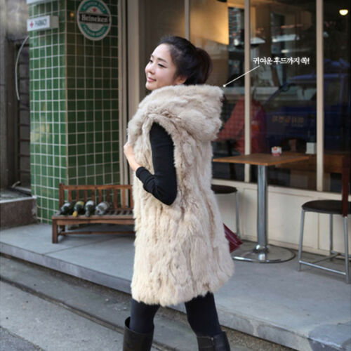 New Lady Faux Fur Sleeveless Vest Waistcoat Gilet Wrap Shrug Jacket Coat Outwear