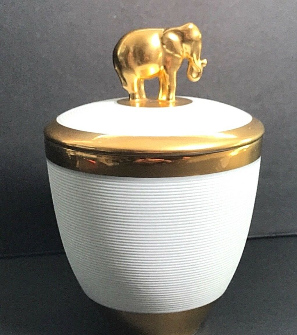 L'Objet gold Elephant Candle Champagne