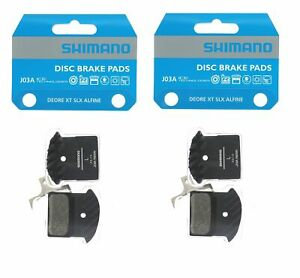2 Packs Shimano J02A Disc Brake Pads Resin Pin for BR-M9000,BR-M987,BR-M675