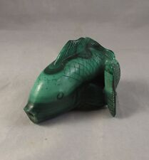 Antique Chinese malachite fish figural snuff bottle Qing