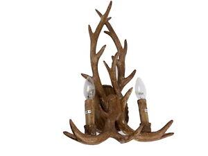 Applique lampada da parete rustico corna di cervo baita chalet