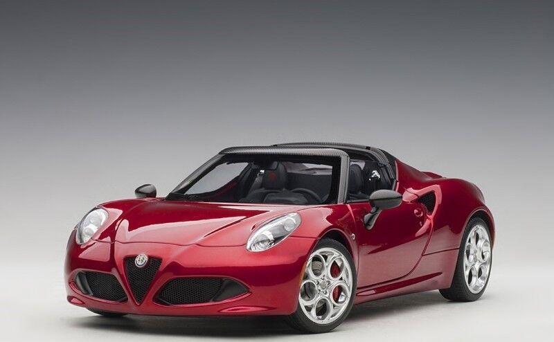 Autoart 70142 - 1 18 Alfa Romeo 4c Spider-competition rosso-nuevo