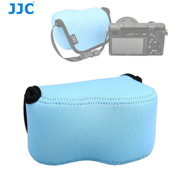 Sky Blue Camera Pouch Case Bag fits Sony A6500 A6400 A6300 A6000+16-50mm Lens