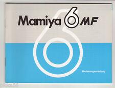 (( 4 languages to pick )) MAMIYA 6 MF INSTRUCTION MANUAL (ORIGINAL PRINT)