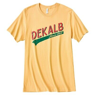 New Dekalb Corn Harvest Mens Brown Vintage T-Shirt