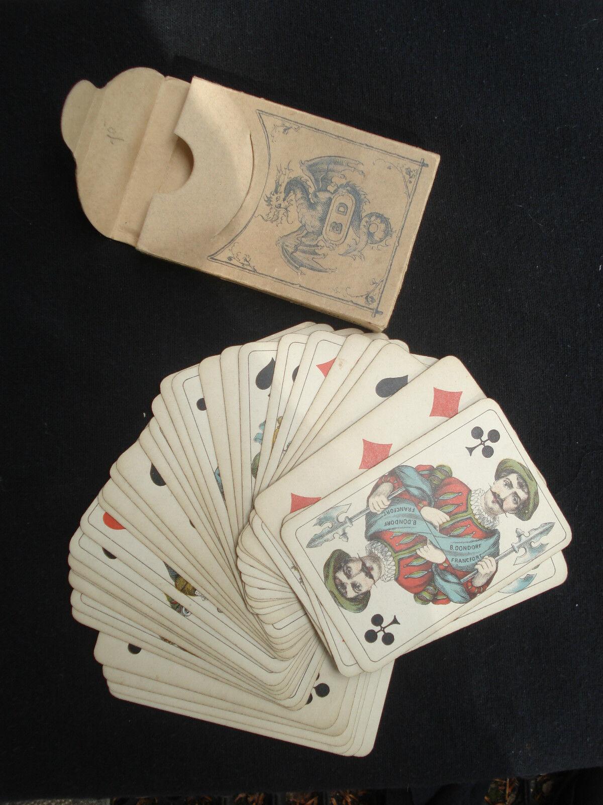 ANCIEN JEU DONDORF FRANKFURT N° 105 PIQUET 36 CARTES ANTIQUE PLAYING CARDS