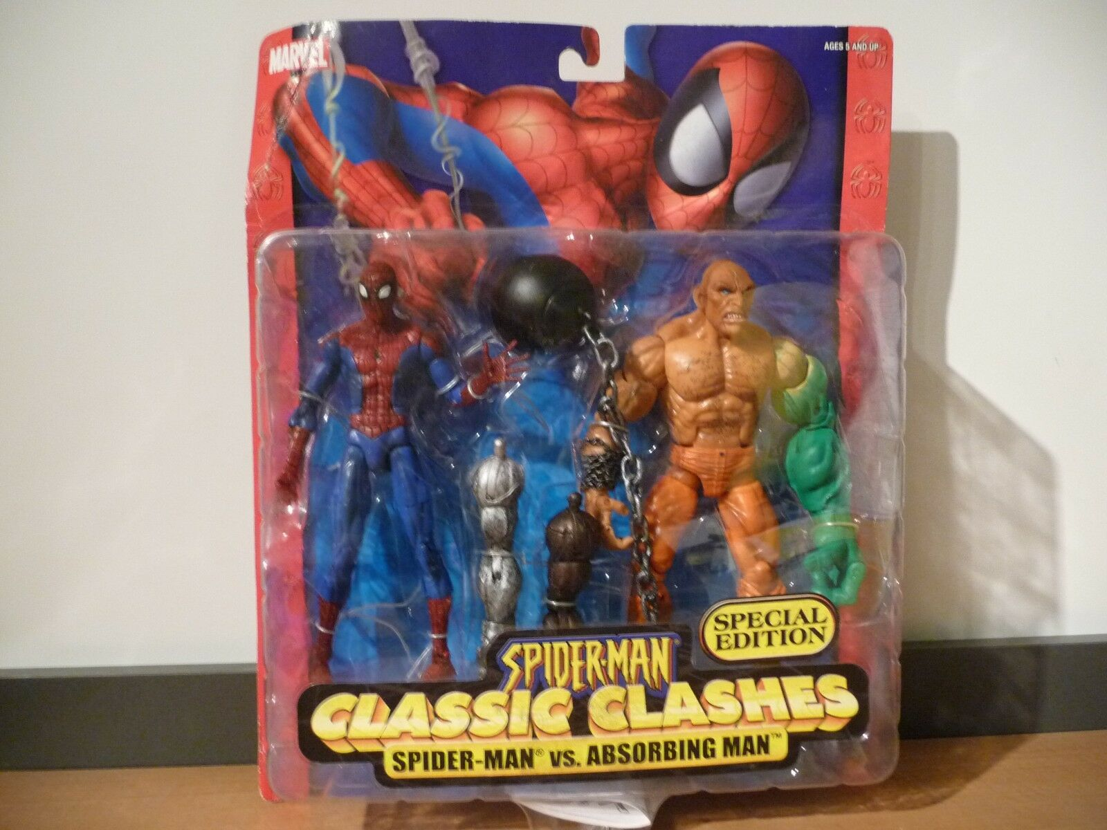 MOC Spider-Man vs Absorbing Man Classic Clashes 2005 Toy Biz Special Edition