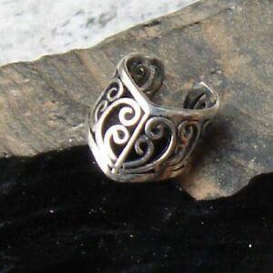 Ornament-Ohrklemme-925er-Silber-Symbol-Schmuck-Neu