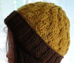Hand Knitted Beanie Warm Winter Men's Hat Australia Made