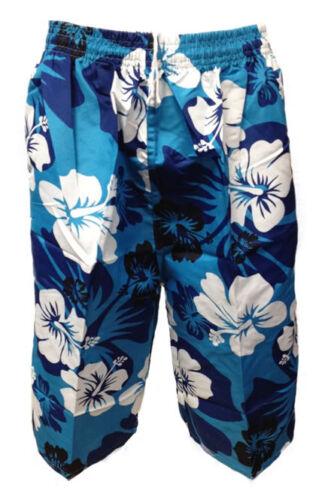 Mens Floral Flower Print Shorts Cargo beach Summer Board Swim Surf Short UK