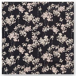 Piccolo Nero Fiori Di Ciliegio Giapponese Furoshiki Providing Amenities For The People; Making Life Easier For The Population Antiques