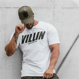 Mens-GYM-BODYBUILDING-CROSSFIT-Cotton-T-Shirt-BEST-WORKOUT-CLOTHING-TRAINING-TOP