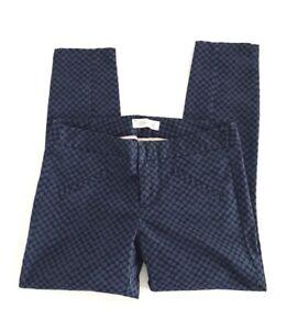 Gap Ultra Skinny Womens Petites Size 2P Blue Polka Dot Skinny Crop Leg Pants