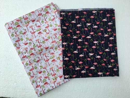 Cotton Printed Flamingo Fabric By the yard DIY Sewing Craft Quilting Charming