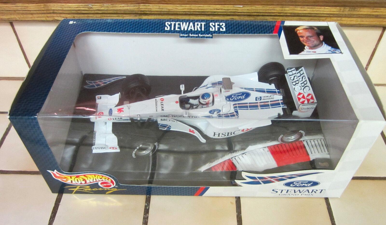 Hot Wheels 1999 STEWART SF3 RUBENS BARRICHELLO 16 Ford Stewart Grand Prix 1:18