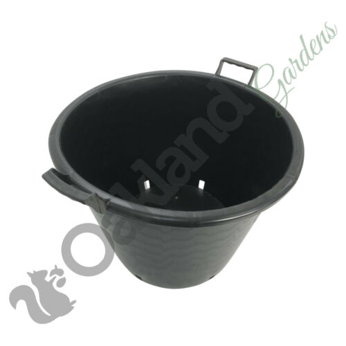 9 x 50 Litre Plant Tree Pot With Handles Heavy Duty 50L Lt Big Large Plastic