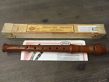 Johannes Adler Magnamusic C Soprano Baroque Wood Recorder A-440 Made in Germany