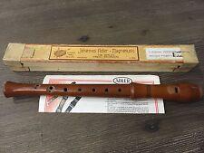 Johannes Adler Magnamusic C Soprano Baroque Wood Recorder A-440 Made in Germany