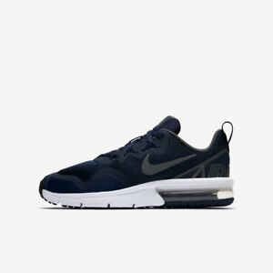 Details about Nike Air Max Fury Boys Trainer Shoe Size 4 5.5 Obsidian Dark Grey
