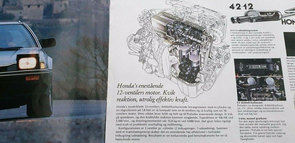Brochure, Honda Prelude