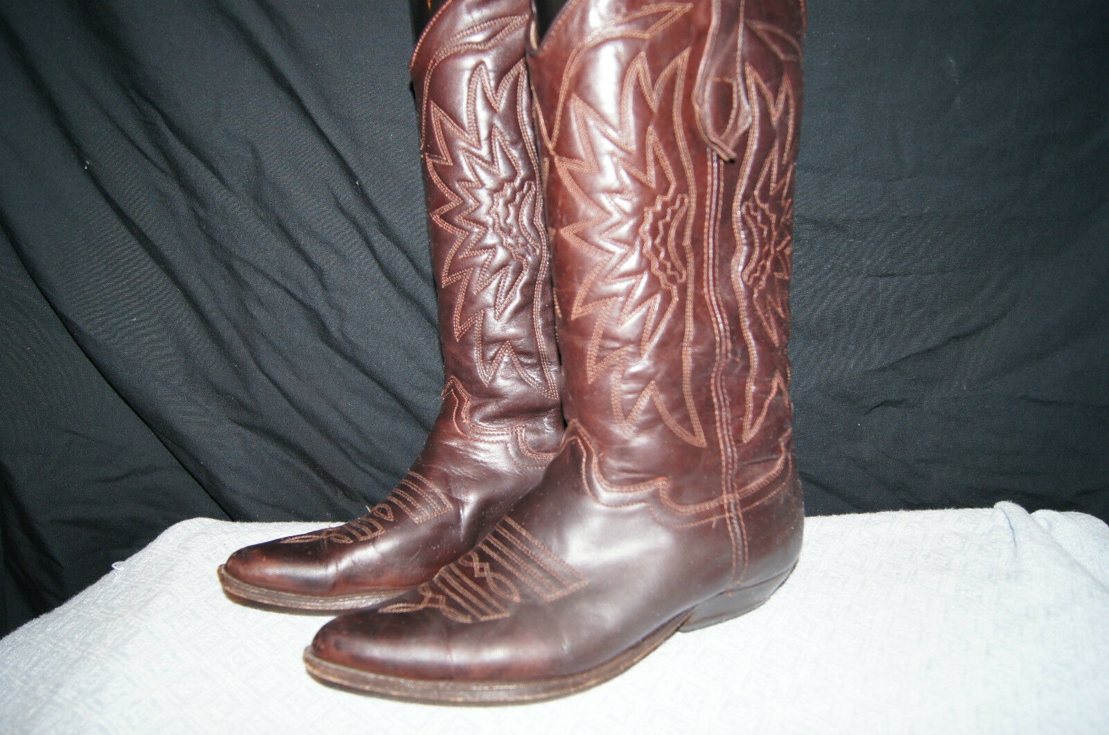 SEYCHELLES Vintage Brown Patina Leather BOOTS WESTERN BOOTS Women 7.5