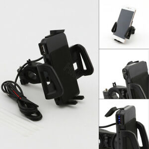 USB-Charger-GPS-Cell-Phone-Holder-for-Honda-Gold-Wing-Valkyrie-Rune-GL-1500-1800