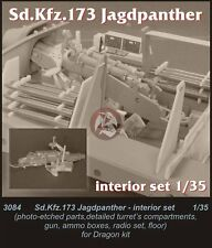CMK 1/35 Sd.Kfz.173 Jagdpanther Interior Set (for Dragon kit) 3084