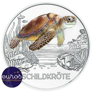 Piece-3-euros-commemorative-AUTRICHE-2019-La-Tortue-Piece-phosphorescente