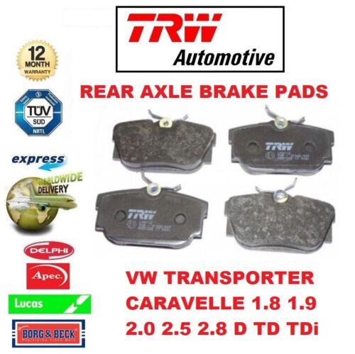 FOR VW TRANSPORTER CARAVELLE 1.8 1.9 2.0 2.5 2.8 D TD TDi REAR AXLE BRAKE PADS
