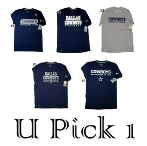 Mens Nike Tee Dallas Cowboys NFL Football T Shirt Navy Grey Star ...