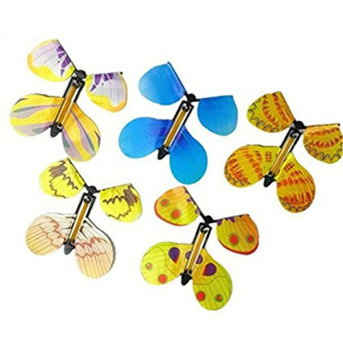 10pcs Card Magic Flying Plastic Butterfly Surprise Birthday Christmas Toy US