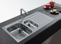 Franke Skx 651 Stainless Steel 1.5 Bowl Sink Pop-up Waste&overflow Brand