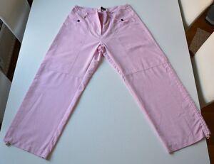 Madonna-Gr-S-Hose-3-4-Hose-Damen-Damenhose-rosa