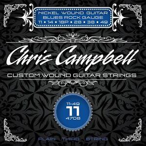 3-SETS-CHRIS-CAMPBELL-CUSTOM-ELECTRIC-GUITAR-STRINGS-4708-BLUES-ROCK-GAUGE