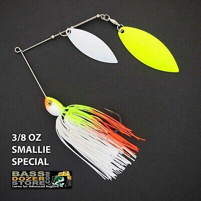 WHITE PEARL spinnerbait spinner bait baits Bassdozer spinnerbaits 3//8 oz H