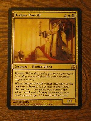 1 PLAYED Orzhov Pontiff Gold Guildpact Mtg Magic Rare 1x x1