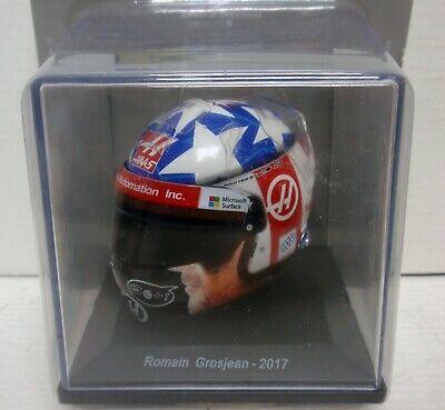 Adattabile Casco Helmet Romain Grosjean 2017 1/5 Spark Editions Piacevole Al Palato