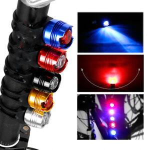 Alluminio-bici-bicicletta-posteriore-luci-casco-attenzione-lampada-sicurezza