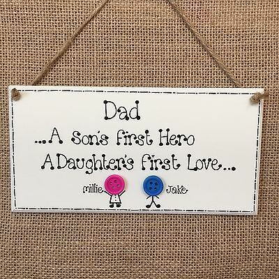 fathers day ninja turtle plaque sign  wooden personalised gift